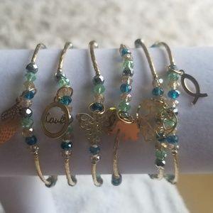 Jewelry - 14k Gold plated Handmade Artisan Bracelet Set